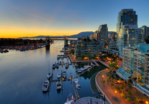 Sunset over the City - Vancouver